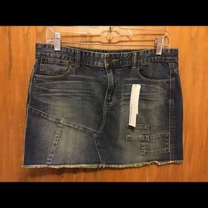 New Calvin Klein Jeans Stretch Jean Skirt - 8